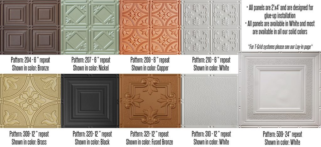 faux tin ceiling options